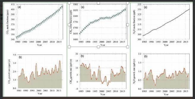 Evolución de la concentración de dióxido de carbono en la atmósfera terrestre