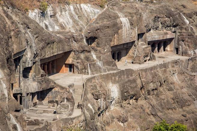 Cuevas de Ajanta cerca de Aurangabad, India